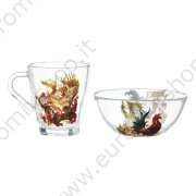 "Set ""Anno del Gallo"" 2 elementi: tazza 250 ml, ciotola 250 ml, d-13 cm"