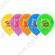"Palloncini ""Happy New Year"" Fiocchi di neve (set di 5 pezzi)"