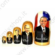 "Matrioska ""Barack Obama"" 5 posti (19 cm.)"